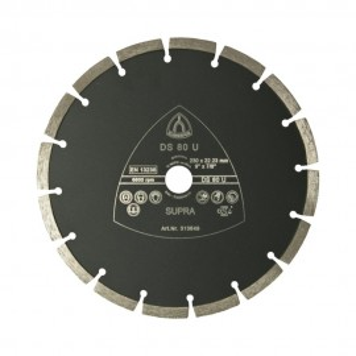 Profesionálny diamantový rezný kotúč so segmentovaným okrajom Klingspor DS 80 U