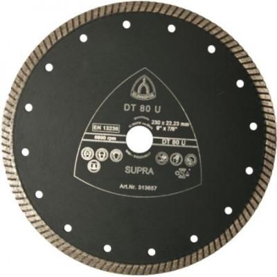 Profesionálny diamantový rezný kotúč s turbo okrajom Klingspor DT 80 U