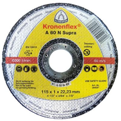 Rezný kotúč Klingspor A 60 N Supra 115x1x22,23 mm
