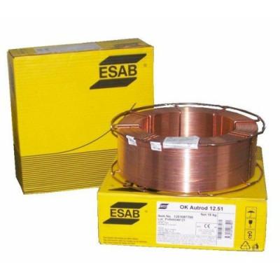 Zvárací drôt Co2, ESAB OK Autrod 12.51 1,0 mm, 18kg