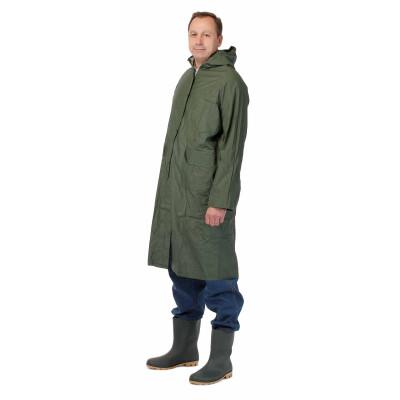 Ochranný plášť s kapucňou, nepremokavý, zelený